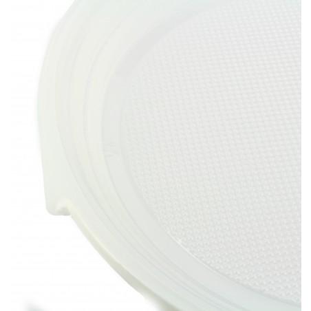 Plato de Plastico Llano Blanco 220mm (1.400 Uds)