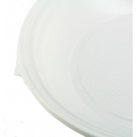 Plato de Plastico Hondo Blanco 220mm (100 Uds)
