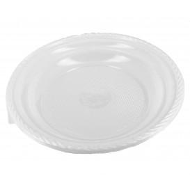 Plato de Plastico Hondo Blanco 205 mm (100 Uds)
