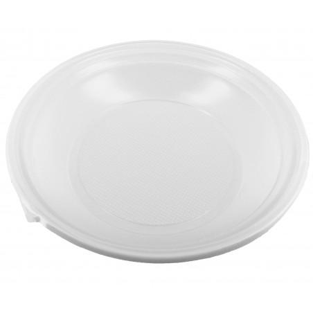 Plato de Plastico Hondo Blanco 220mm (1.400 Uds)