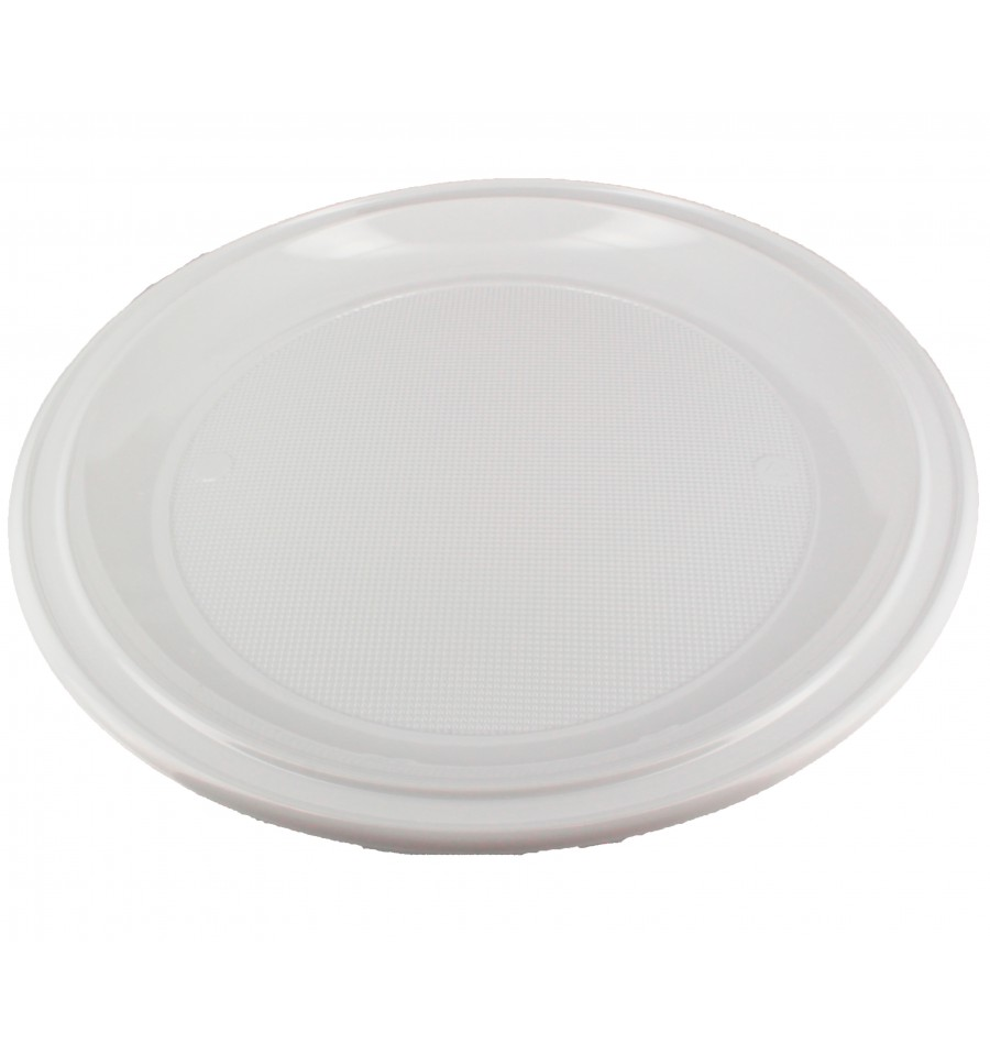 plato de plastico ps para pizza blanco 280 mm 400 uds
