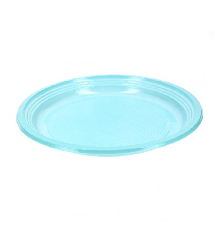 Plato de Plastico Llano Azul 205mm (960 Uds)