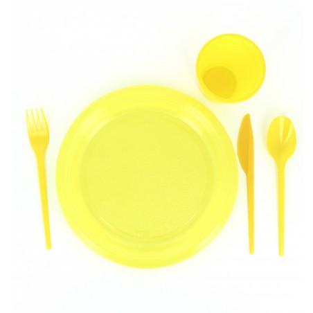 Tenedor de Plastico PS Amarillo 165 mm (15 Uds)