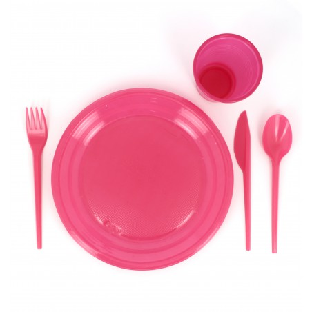 Cuchara de Plastico PS Fucsia 165 mm (900 Uds)
