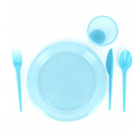 Tenedor de Plastico PS Azul 165 mm (15 Uds)