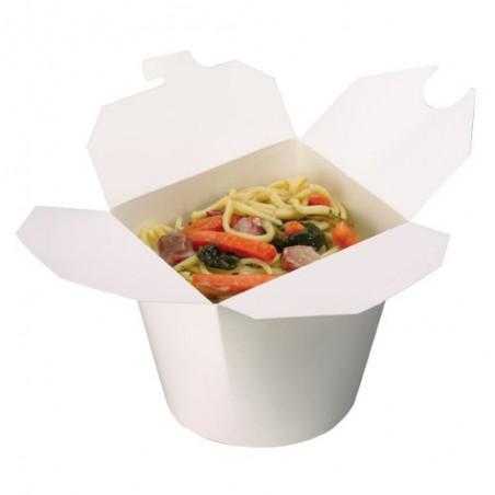 Envase de Comida para Llevar Blanco 800ml (50 Uds)
