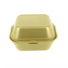 Envase Hamburguesa FOAM Pequeña Oro (500 Uds)