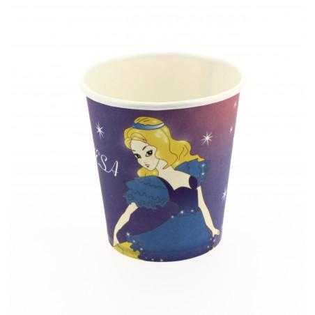 Vaso Carton Diseño Princesas 200 ml. (Bolsas 25 unidades)