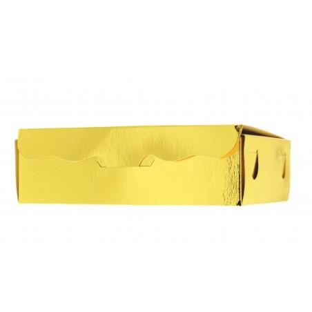 Caja para Dulces y Bombones Oro 14x8x3,5cm 250g (5 Uds)
