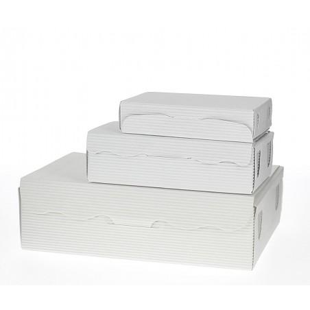 Caja para Dulces y Bombones Blanca 11x6,5x2,5cm 100g (5 Uds)