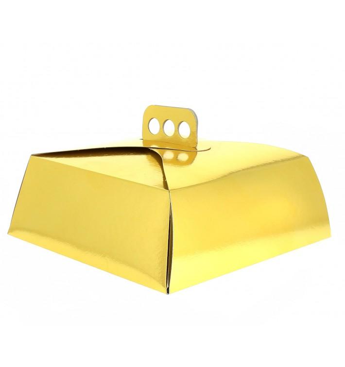 Caja de cartón para Tartas Oro 24x24x10 cm (50 Uds.)