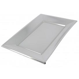 Bandeja de Plástico Plata 330x230mm (120 Uds)