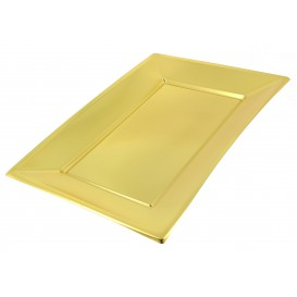 Bandeja de Plástico Oro 330x225mm (60 Uds)