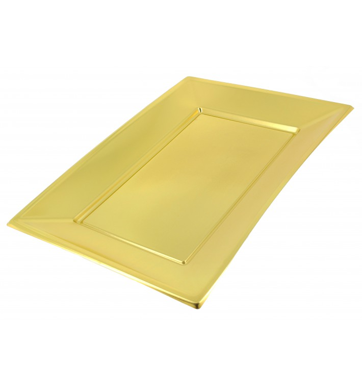 Bandeja de Plástico Oro 330x225mm (120 Uds)