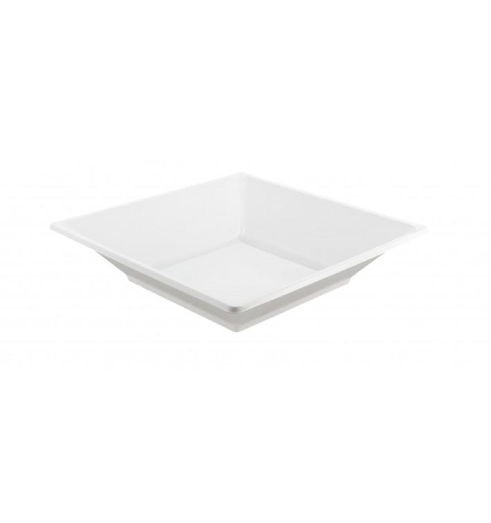 Plato de Plastico Hondo Cuadrado Blanco 170mm (750 Uds)