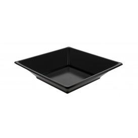 Plato de Plastico Hondo Cuadrado Negro 170mm (360 Uds)