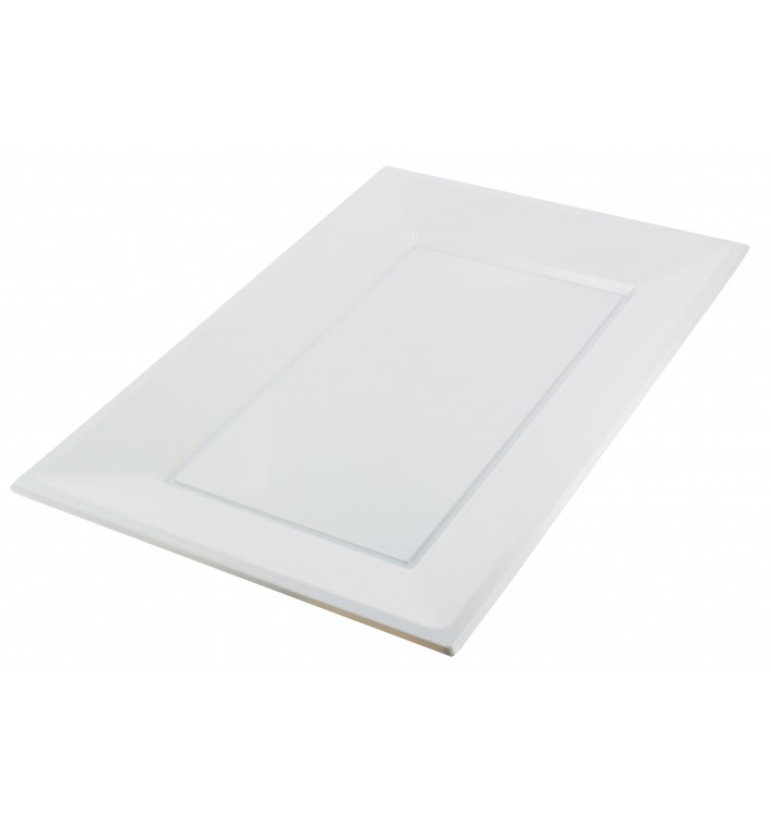 Bandeja de Plastico Blanca 330x225mm (3 Uds)