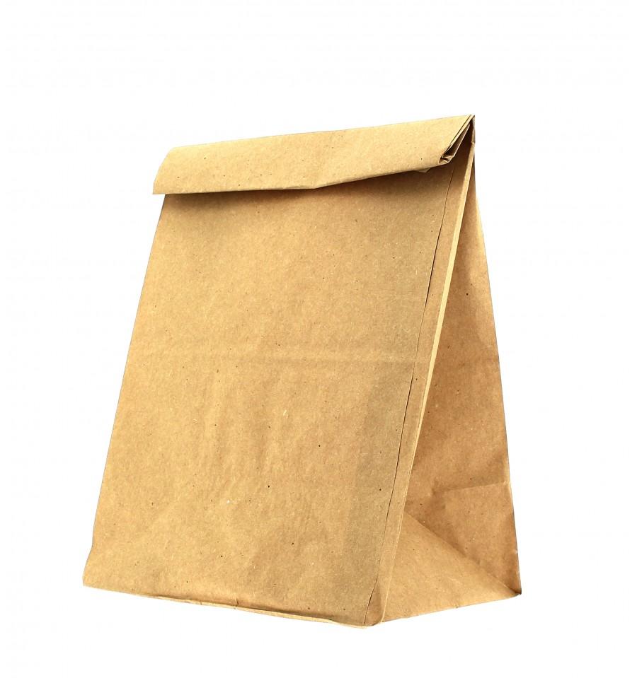 Bolsa de papel sin asas kraft marron 12 8x24cm 25 uds for Papel para empapelar precio