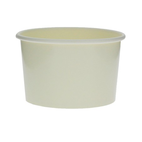 Tarrina de Cartón para Helados 3oz/90ml Blanca (50 Uds)