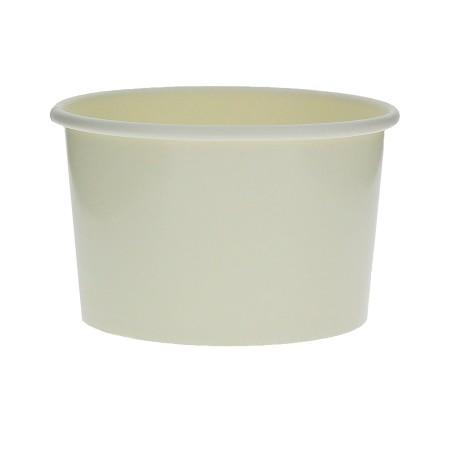 Tarrina de Cartón para Helados 6oz/180ml Blanca (50 Uds)
