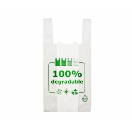 Bolsa Plastico Camiseta 100% Degradable 40x60cm (200 Unidades)