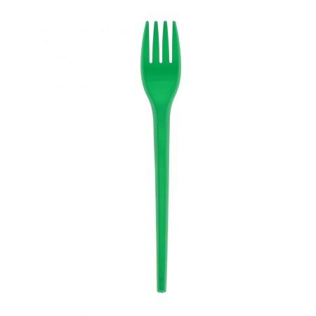 Tenedorde Plastico PS Verde 165 mm (900 Uds)