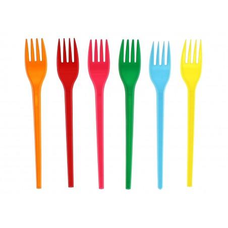 Tenedor de Plastico PS Naranja 165 mm (15 Uds)