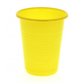 Vaso de Plastico PS Amarillo 200 ml (24 Unidades)