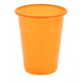 Vaso de plastico ps naranja 200 ml