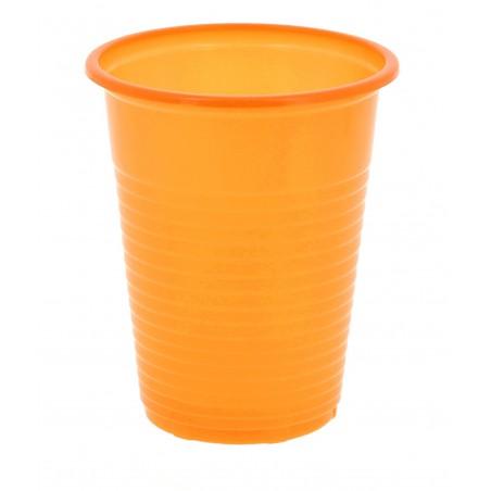 Vaso de Plastico PS Naranja 200 ml (24 Unidades)
