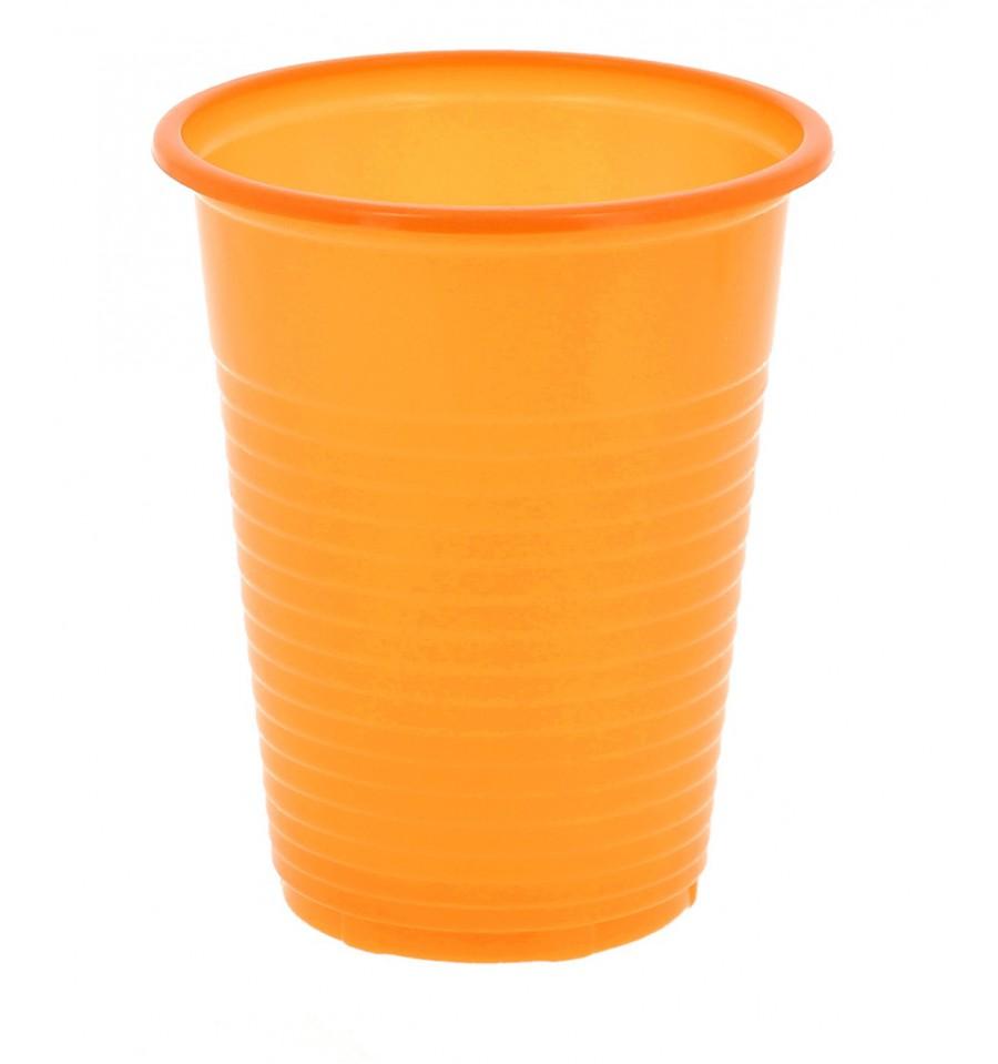 Vaso de plastico ps naranja 200 ml 24 unidades - Vasos de colores ...