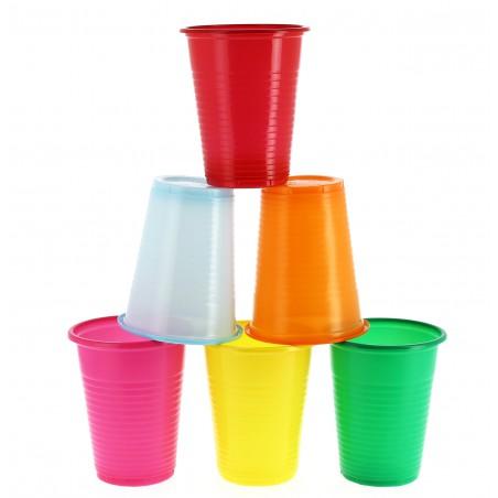 Vaso de Plastico PS Azul 200 ml (24 Unidades)
