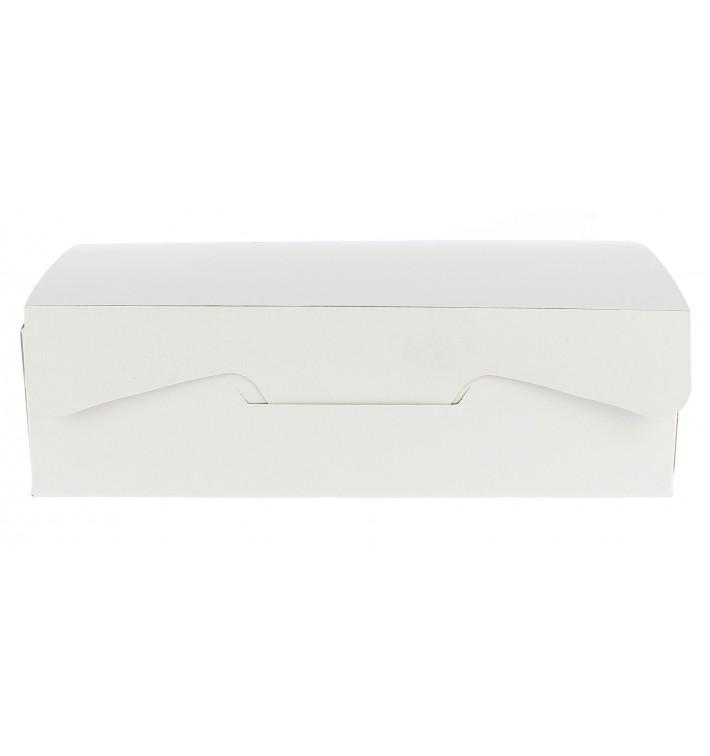 Caja Pasteleria Carton 18,2x13,6x5,2cm 500g. Blanca (20 Uds)