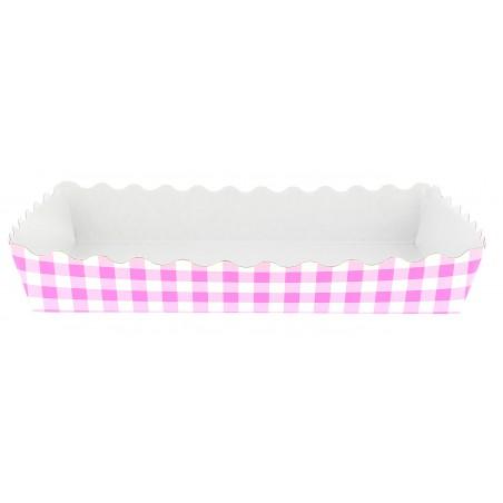 Bandeja Cerrada Rosa para Pasteleria 18,2x12,2x3cm  (600 Uds)
