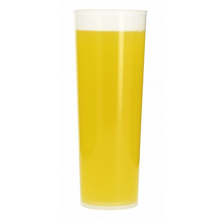 Vaso Tubo Plastico Irrompible PP 300 ml (10 Uds)