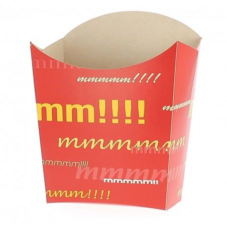 Envase Carton Fritas Mediana 9,7x4,2x12,5cm (Paq.50 unid.)