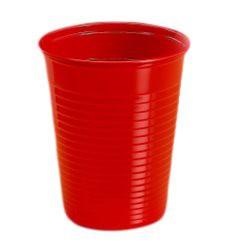 Vaso de Plastico PS Rojo 200 ml (Bolsa 24 Uds)