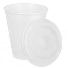 Vaso Termico Foam EPS 7Oz/210ml Blanco + Tapa (1.600 Uds)