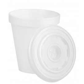 Vaso Termico Foam EPS 6Oz/180ml Blanco + Tapa (2.000 Uds)