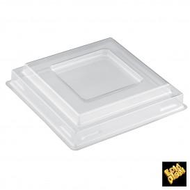 Tapa Bol Square Dessert Transparente PET 90 ml (1000 Uds)