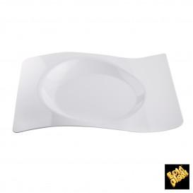 """Plato de Plastico """"Forma"""" Blanco 28x23 cm (12 Uds)"""