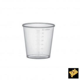 Vaso de Plastico Graduado PP Transp. 35 ml (50 Uds)
