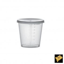 Tapa Vaso Graduado PP Transp. 35ml Ø4,5cm (2000 Uds)