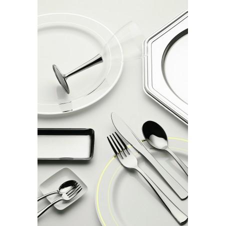 Cuchillo de Plastico Metalizado 200mm (50 Uds)