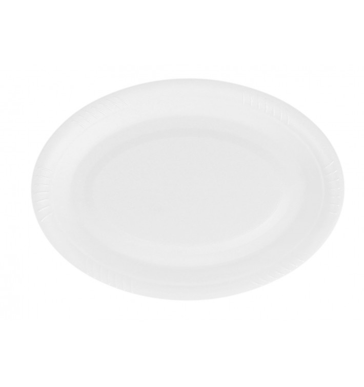 Plato Termico Foam Ovalado Blanco 260 mm (50 Uds)