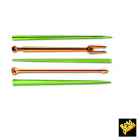 Pick de Plastico Snack Stick Multicolor 90 mm (1650 Uds)