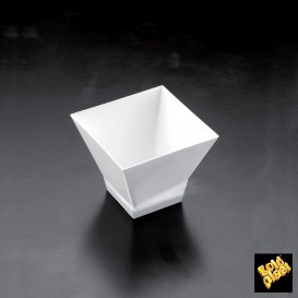 Vaso de Degustacion Pagoda Blanco 120ml (25 Uds)