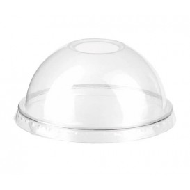 Tapa Cupula Agujero Vaso PET 9Oz/265ml Ø7,5cm (1.000 Uds)