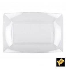 Bandeja de Plastico Rectangular Transp. 345x230mm (30 Uds)