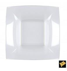 Plato de Plastico Hondo Cuadrado Transp. 180mm (150 Uds)